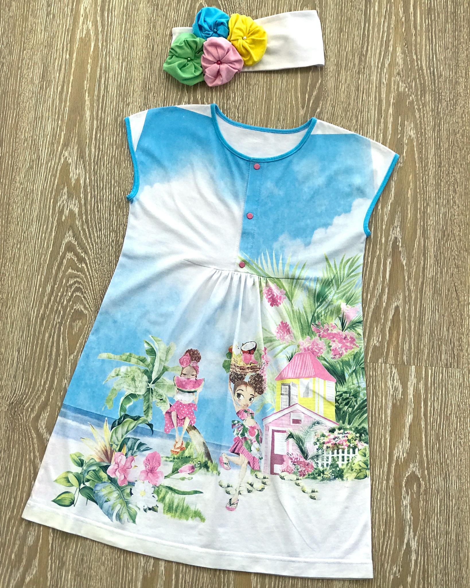Летнее платье девочке своими руками фото