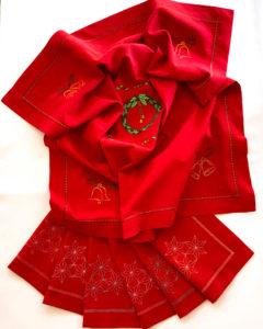 Новогодняя скатерть с вышивкой фото