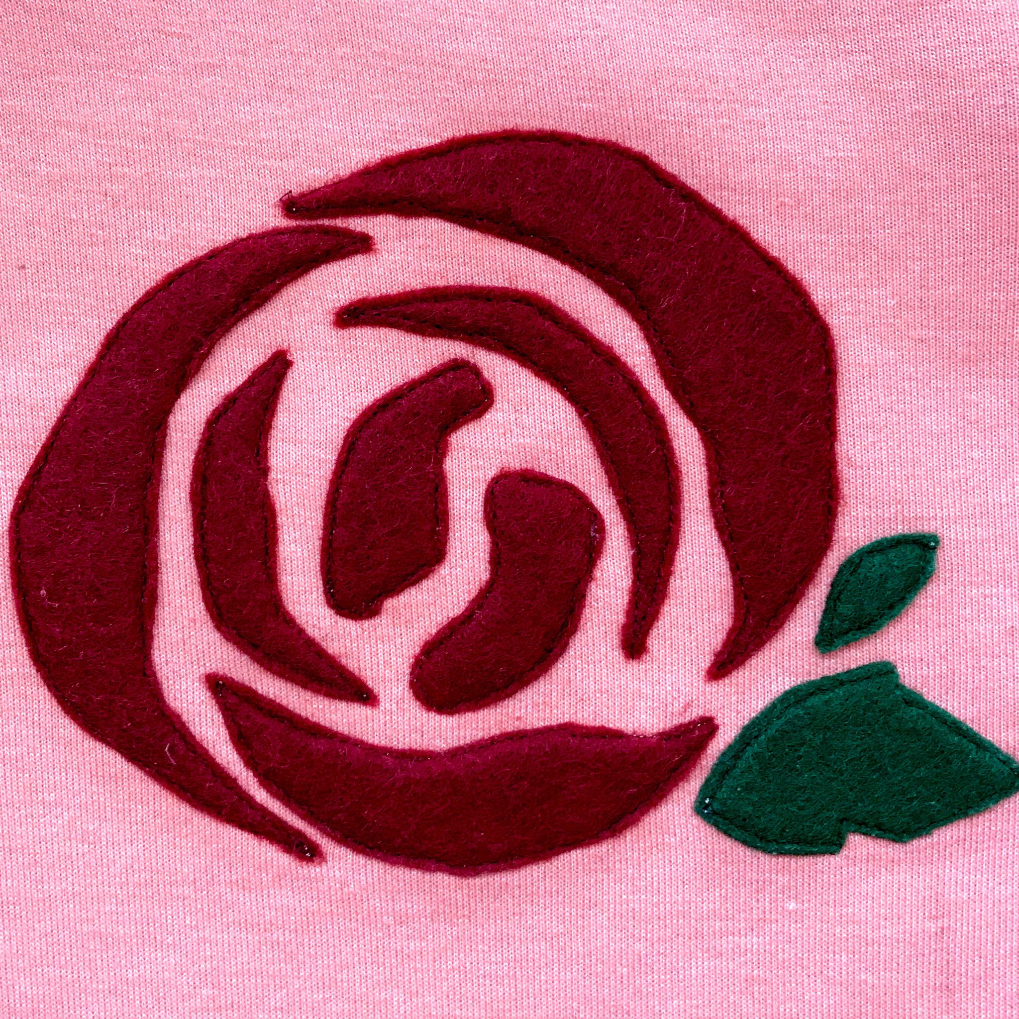 Аппликация роза фото