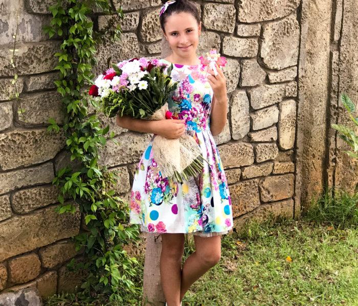 Маленькое цветастое платье